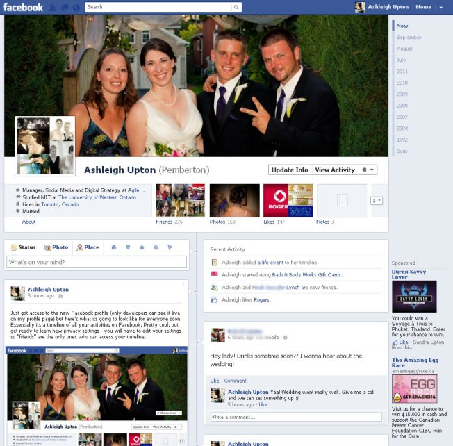 Facebook Profile Changes (beta)